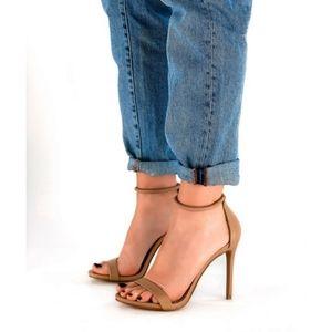 Steve Madden Soph natural sandal high heels 6.5